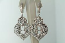 WEDDING/BRIDAL CHANDELIER DROP EARRINGS ENCRUSTED CUBIC ZIRCONIA