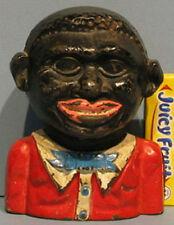 BIG PRICE CUT * ORIG OLD 1890's AFRICAN AMERICAN CAST IRON BANK GENTLEMAN BK803