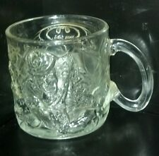 Batman Forever McDonalds Etched Glass Cup 1995 Made in France Feat Riddler Rare