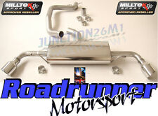 Milltek Audi TT MK2 exhaust 2.0 TFSI 2wd CAT BACK DOUBLE 2 X JET 100 mm SSXAU143