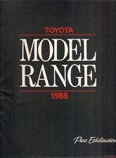 Toyota Starlet Corolla MR2 Carina Celica Camry Supra 1988 Ed1 UK Market Brochure