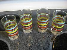 Fiesta Juice Glass NEW Set 4-Striped Chocolate, Sunflower, Turquoise, Paprika