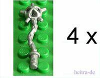 LEGO - 4 x Morgenstern silber ( perl - hellgrau ) / Spiked Flail  59232 NEUWARE