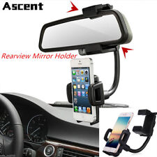 COOL Car Rear View Mirror Mount Stand Holder Cradle Clip Case For Cell Phone