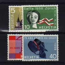 SUISSE SWITZERLAND Yvert  n° 602/605 neuf sans charnière MNH