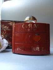 YSL OPIUM EDT colossale 120ml intatte VINTAGE 1980s Splash PALLONE non Nuovo di zecca BOX