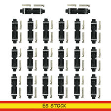 10 pares Conectores de Cable del Panel Solar Anillos de Sello Doble Macho/Hembra