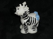 Fisher Price Little People ZEBRA Zoo Ark Animal Blue Bow