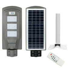 1100LM Solar LED Street Light Commercial Outdoor IP65 Area Security Road Lamp US