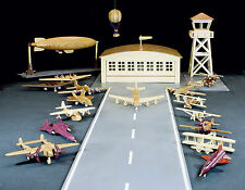 Woodworking plans for a deluxe airplane set, An aviation history set