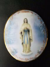 """Virgin Of The Poor by Hector Garrido 1995 Ardleigh-Elliot Music Box #3135A 2""""h"""