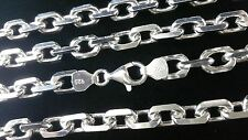 925 echt Silber Sterlingsilber Ankerkette 8 mm Marine kette Halskette 65 schmuck