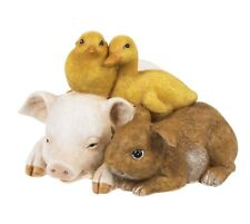 Ganz E9 Home Garden Decor Pig, Bunny, Chick, Duck 5x3in Figurine EA16613