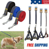 4ft Long Nylon Dog Harness and Leash Set for Dogs Walking Small Medium Large US