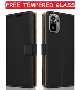 Wallet Leather Case For Xiaomi Redmi Note 10S Flip Cover &Glass Screen Protector
