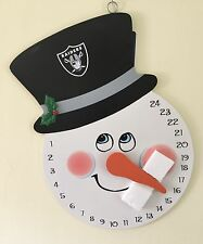 Oakland Raiders NFL Wall Door Snowman Advent Christmas Countdown Calendar