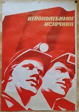 Original Art Poster Soviet Workers of the USSR Totalitarianism Communism 1984y
