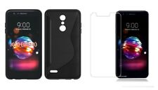 BLACK S-LINE TPU CASE+ CLEAR SCREEN PROTECTOR ACCESSORY FOR LG K30