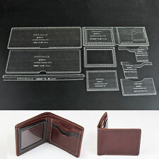 WUTA Bifold Wallet Leather Stencil Template Acrylic  Craft Pattern Card Holder