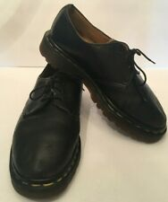 Doc Martens Womens Flat Oxford Shoes Size 6 Black Leather Lace Up Air Cushion