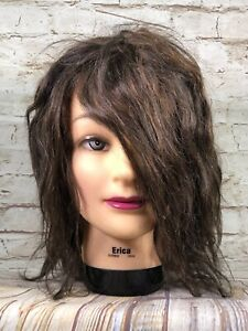 Erica Burmax real hair mannequin for hairdresser cosmetology