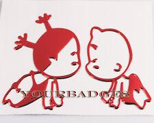 Baby Boy & Girl EPOXY STICKERS VOITURE ROUGE sticker decal