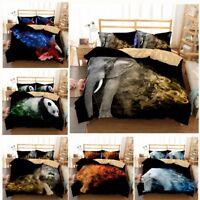 3D Painting Animal Lion Leopard Duvet Cover Bedding Set Pillowcase Quilt Cover