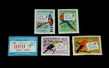 Columbia, #C611-14 & C598, 1974, Universal Postal Union, Singles, Mnh, Nice,Lqqk