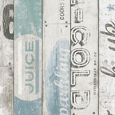 Fondo de pantalla de panel de madera de Surf Azul-AS Creation 959503 Nuevo