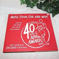 MUSIC FROM FAR AND WIDE CELEBRATING 40 YEARS OF THE JUNO AWARDS BOOK HB CANADIAN