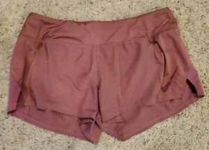 Nike Dri Fit Purple Shorts With Attached Brief Large