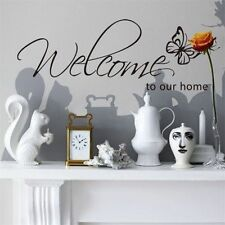 """Welcome to our home"" Family Removable Family DIY Art Vinyl Quote Wall Stickers"