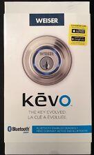 New Weiser Kevo Bluetooth Enabled Deadbolt Satin Nickel 9GED15000-002