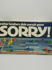 1972 Vintage Sorry! Board Game Parker Brothers Slide Pursuit Game USED
