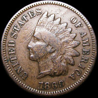 1869 Indian Cent Penny ---- NICE L@@K  ---- #D604