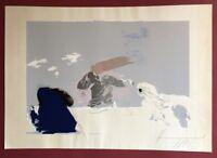 Vlado Kristl, Jury 2, Siebdruck, 1986, mit Widmung, handsigniert und datiert