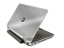 BRUSHED ALUMINUM Vinyl Lid Skin Cover fits Dell Latitude E6430 Laptop