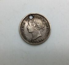 1858 Canada First  10  Cents Dime  Sharp Grade has been Holed!Great for Charm