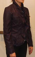REDUCED   Caroline Morgan Deep Purple  Faux Leather Jacket   SIZE 10  BRAND NEW