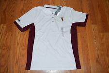 NWT Mens Knights Apparel ARIZONA STATE White Maroon Short Sleeve Polo Shirt L