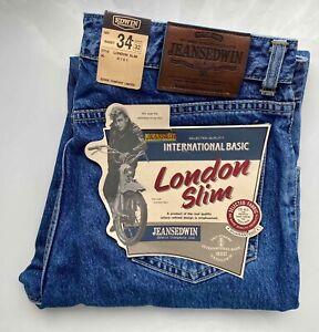 *TOP* JEANS EDWIN Original Vintage Jeans Hose, LONDON Slim, W34 L32, hell blau