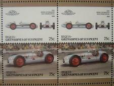 1948 BLUE CROWN Spark Plug Special Car 50-Stamp Sheet Auto 100 Leaders of World