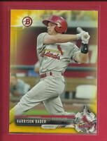 Harrison Bader RC  2017 Bowman Prospects YELLOW Rookie Card # BP143  Cardinals