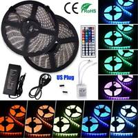 LED Strip Lights Waterproof 5050 5M Car 12V/Home Wedding Décor US Plug In 60W