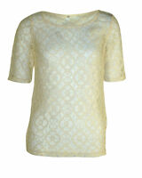 BRAND NEW EX CHAINSTORE LADIES CREAM/IVORY LACE SMART BLOUSE TOP SIZE UK 8-24