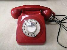 Vintage Red Landline Telephone. James Bond M Style. Retro. British.