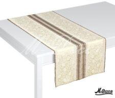 """MACCHIA RETTANGOLARE Resistente Marrone Crema Tabella Runner Overlay 40x160cm (16""""x 63"""")"""