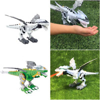 Revvlo Dragonsaur Electric Walking Dragon Kids Toys Fire Water Spray Dinosaur