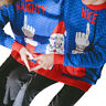 Novelty Christmas Unisex Two Person Sweater Couples Pullover  Blouse Tops Shirt