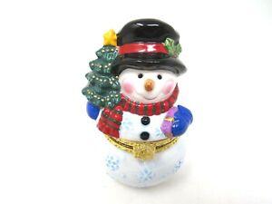 Snowman Multi colored  Jewelry Box